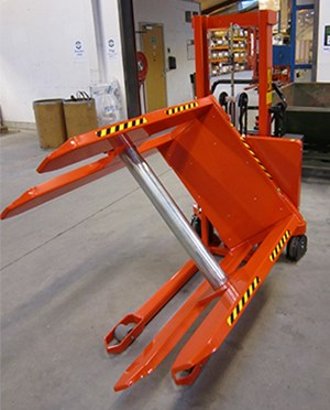 Samples Custom-built products, Rotator for reel handling