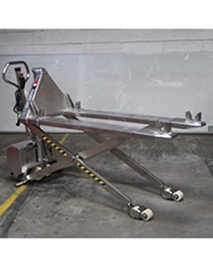 Samples Custom-built products, Stainless Thork Lift for transporting of trolleys