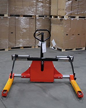 Samples Custom-built products, Reel Lifter for the handling of wide reels