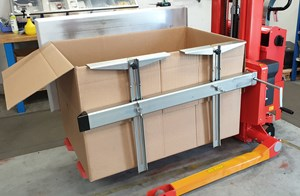 Samples Custom-built products, Customized Rotator handles cardboard boxes